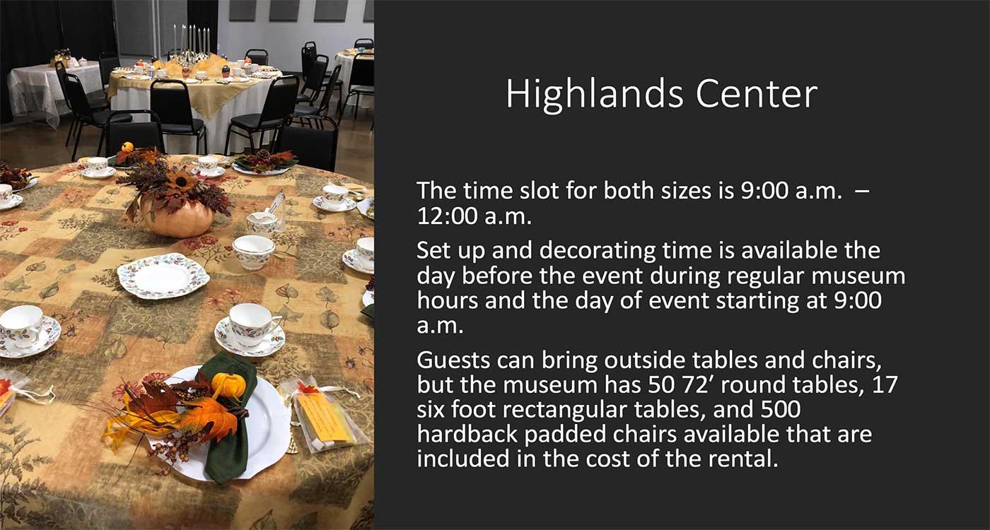 Highlands Center